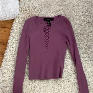 Small cropped Forever 21 sweater
